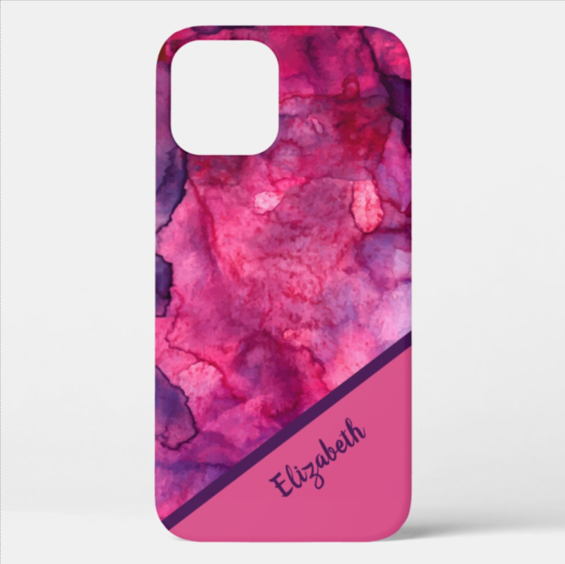 Watercolor prints in LOTS OF COLORS on matte or glossy finish. Shop PhoneCaseFashions.com