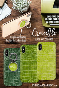 Chartreuse, lime and green are one of my favorites to wear with  black jeans and cozy sweater, dress pants and a slinky black tee or spring and summer floral prints.Don't hide behind an ugly case. Shop faux crocodile cell phone cases in lots of colors. Don't hide behind an ugly phone case!
