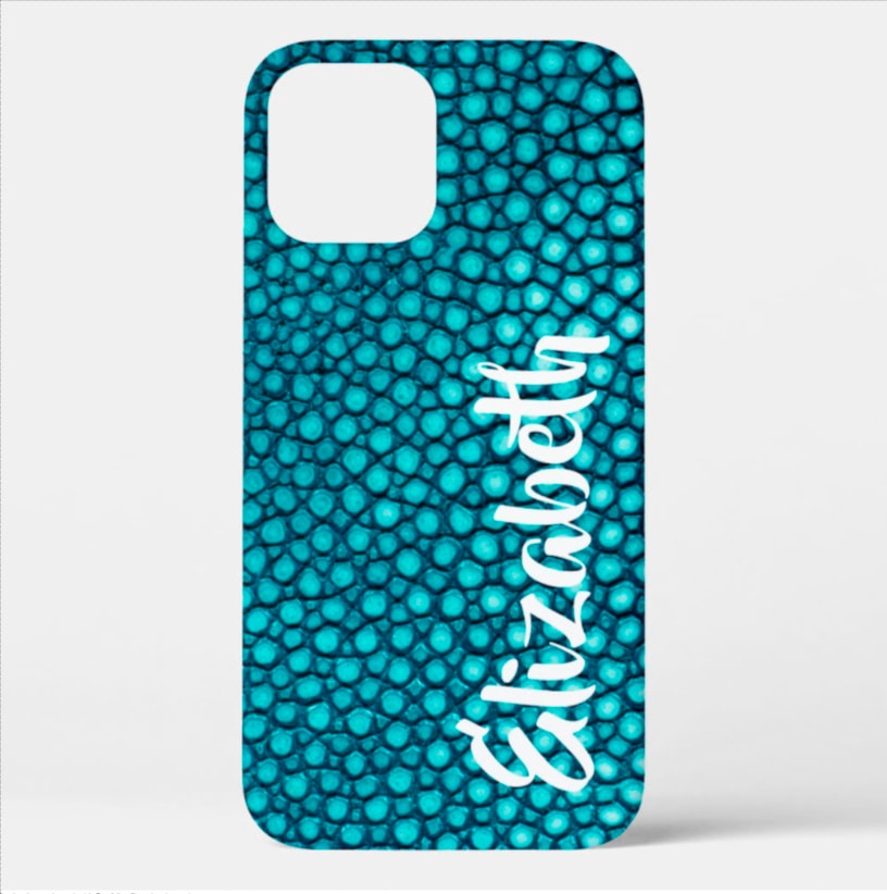 Stingray leather faux finish in LOTS OF COLORS on matte or glossy finish. Shop PhoneCaseFashions.com